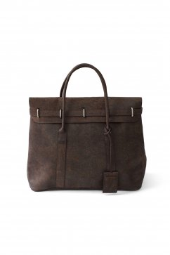 OLD JOE - DISTRESSED LEATHER MONEY BAG - WALNUT