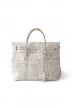 OLD JOE ★★★ - EXCLUSIVE DISTRESSED LEATHER MONEY BAG - BONE