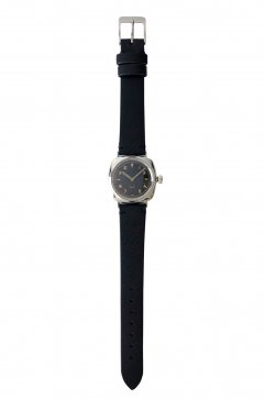 OLD JOE - EXCELSIS (WRISTWATCH) /BADARASSI LEATHER - SILVER x BLACK LEATHER
