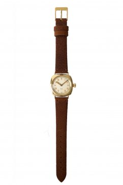 OLD JOE - EXCELSIS (WRISTWATCH) /BADARASSI LEATHER - GOLD x CAMEL LEATHER