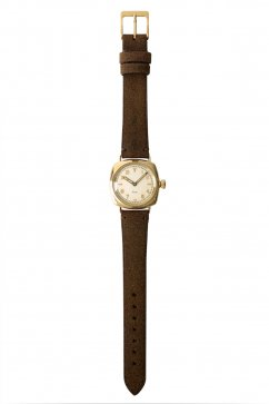 OLD JOE - EXCELSIS (WRISTWATCH) /BADARASSI LEATHER - GOLD x CHESTNUT LEATHER