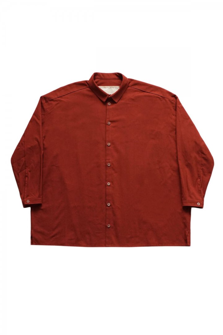 toogood - THE DRAUGHTSMAN SHIRT - DYED CALICO LW - RUST- PRICE  73,700 tax-in