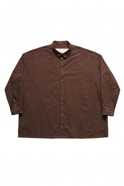 toogood - THE DRAUGHTSMAN SHIRT - DYED CALICO LW - PEAT