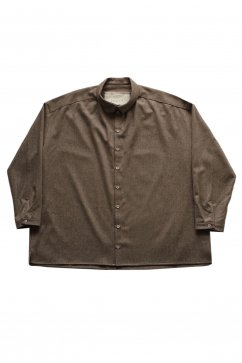 SHIRT - toogood - THE DRAUGHTSMAN SHIRT - WOOL CASH. FLANNEL - MUD - Price 113,400 tax-in