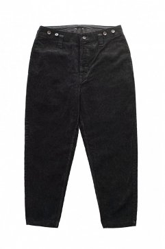 PANTS - Porter Classic - CORDUROY PANTS type 2012 MOLESKIN - BLACK - Price 75,600 tax-in