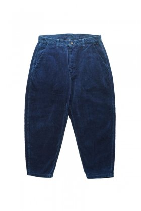 Porter Classic ★★★ - CORDUROY PANTS type 2012 MOLESKIN - BLUE