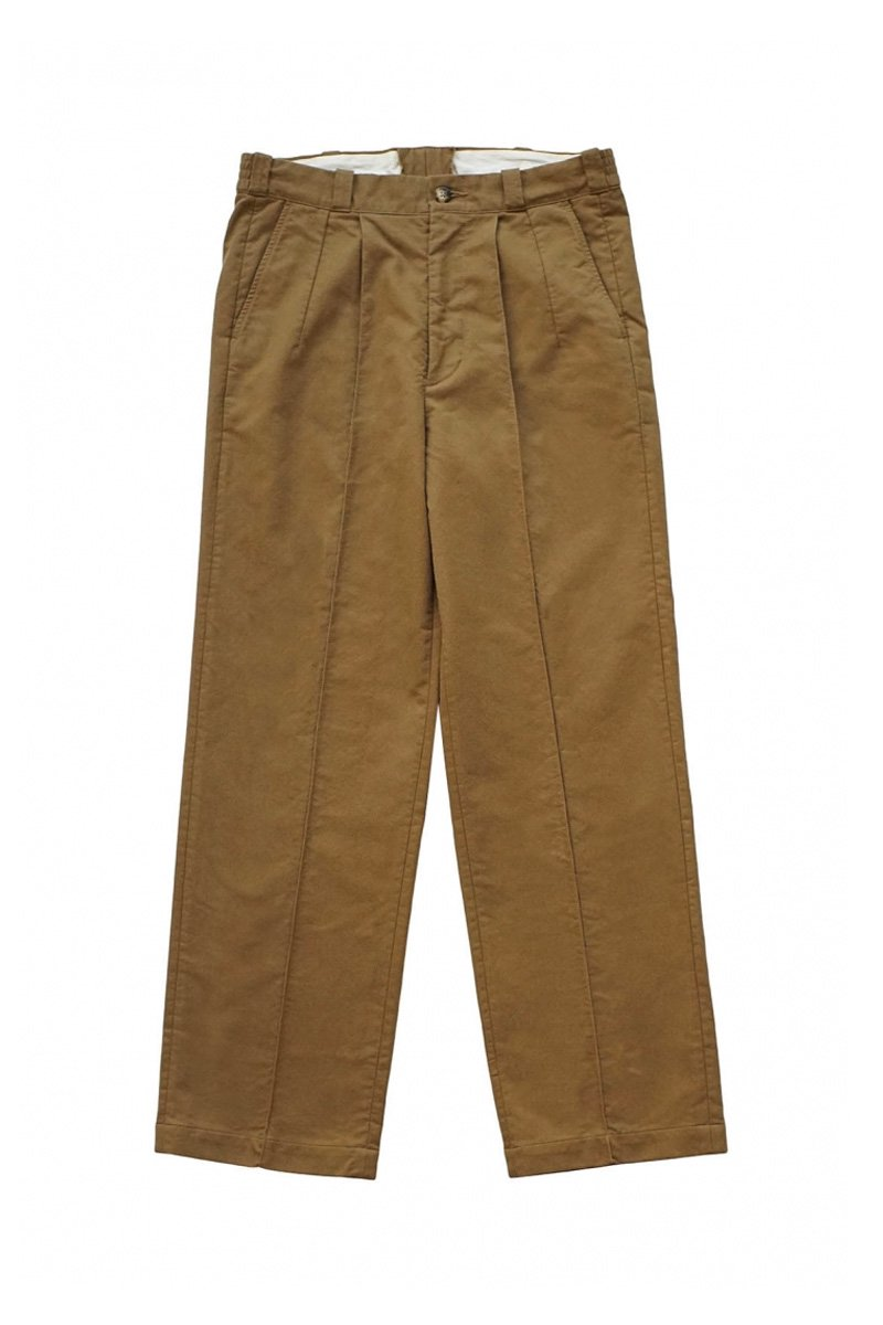 OLD JOE - FRONT TUCK ARMY TROUSER - OLIVE