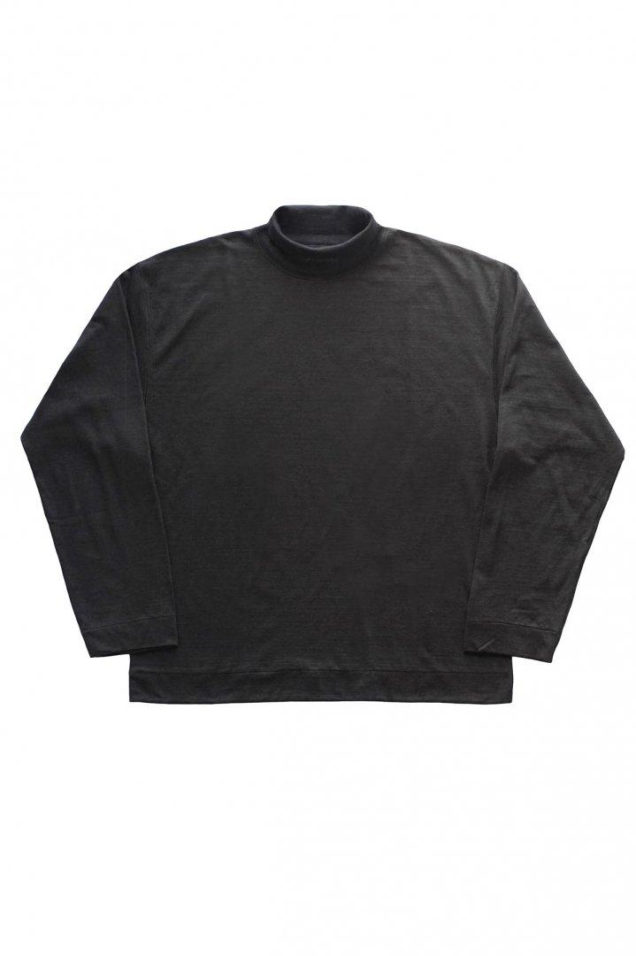 OLD JOE - TURTLE- NECK SPOTS SHIRTS - BLACK