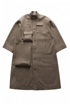 COAT - toogood - THE HOUSEKEEPER COAT - FELT - MUD - Price 204,120 tax-in
