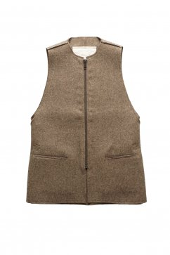 VEST - toogood - THE ANTIQUE DEALER GILET - FELT - MUD - Price 113,400 tax-in