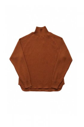 OLD JOE - HONEYCOMB WUFFLE MOCK-NECK SHIRTS - COPPER