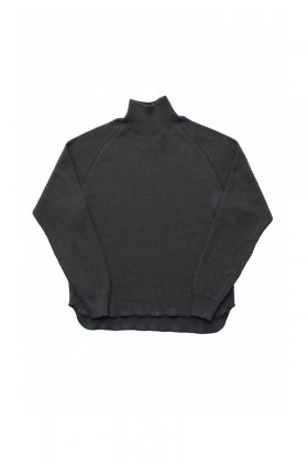OLD JOE - HONEYCOMB WUFFLE MOCK-NECK SHIRTS - GRAPHITE