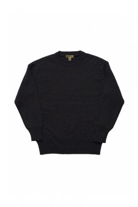 Nigel Cabourn - 40s CREW NECK SWEATER WASHABLE WOOL- NAVY