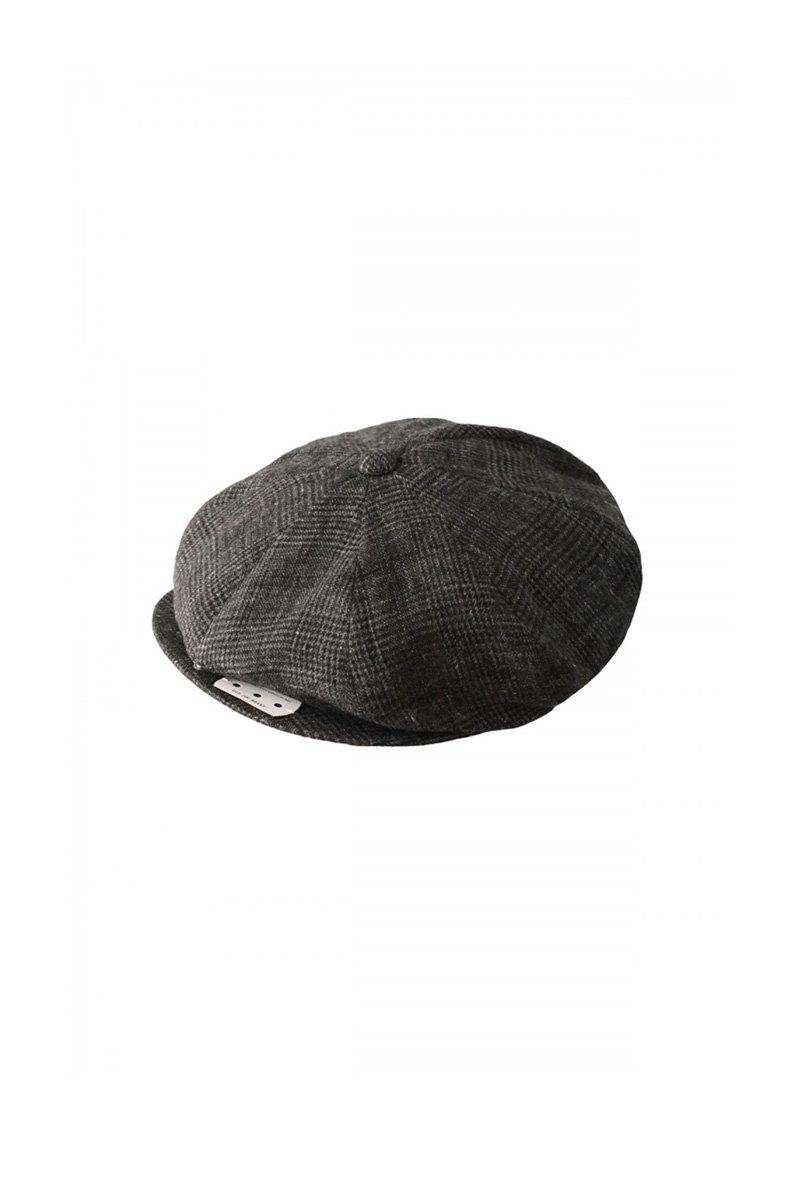 OLD JOE - PEAKED CAP - GLEN CHECK GRAPHITE