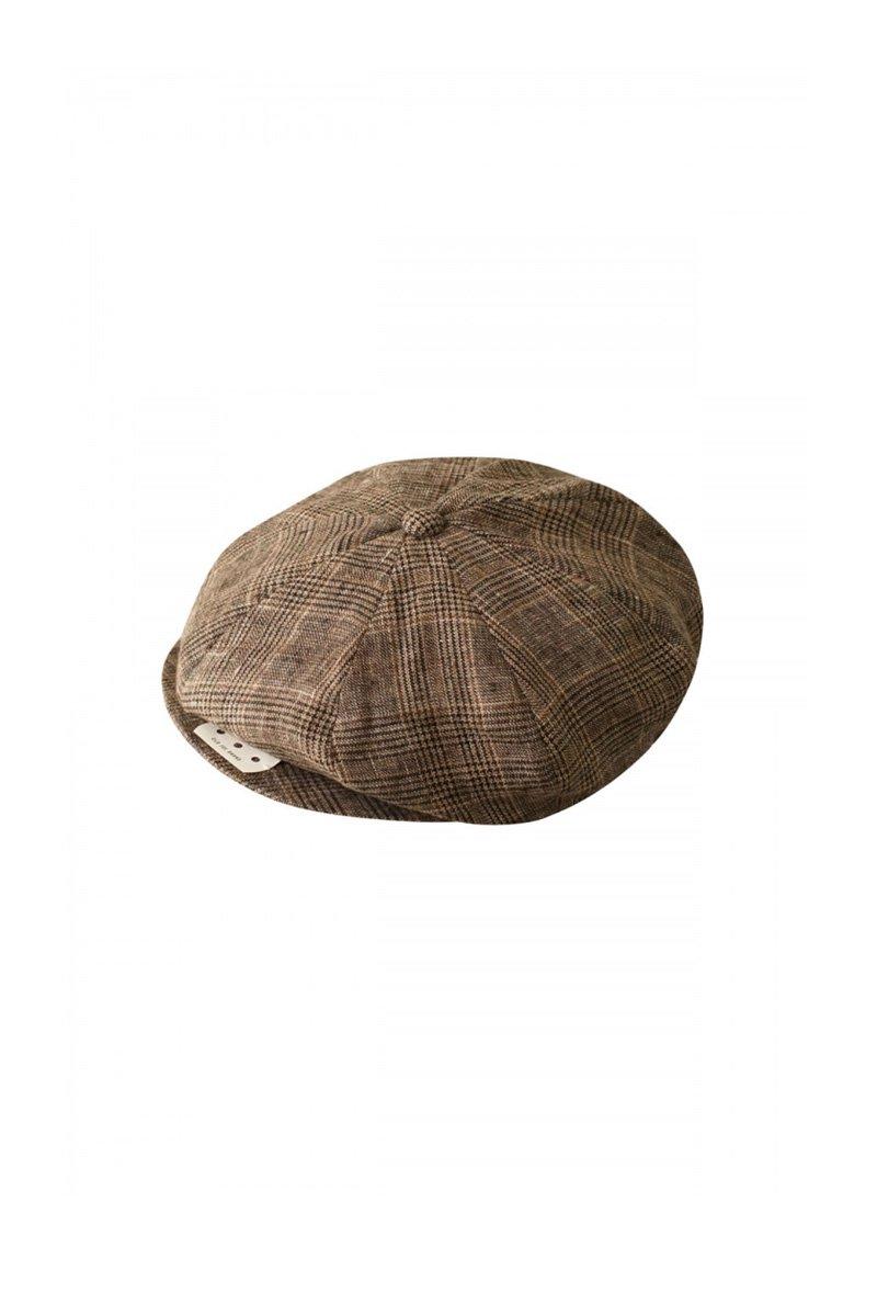 OLD JOE - PEAKED CAP - GLEN CHECK SIENNA