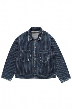 Porter Classic - HAWAIIAN DENIM JACKET - BLUE