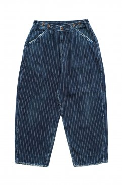 Porter Classic - HAWAIIAN DENIM PANTS - BLUE
