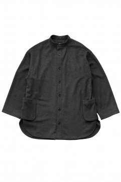 Porter Classic - CASHMERE STAND COLLAR SHIRT JACKET - GRAY