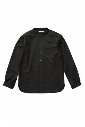 OLD JOE - STUD BUTTON BAND COLLAR SHIRTS - BLACK