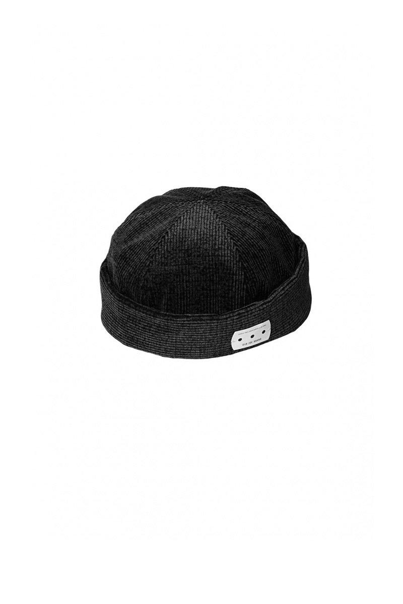 OLD JOE - SIX PANEL ROLL CAP - BLACK