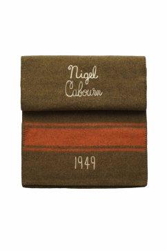 Nigel Cabourn - BLANKET STOLE - OLIVE