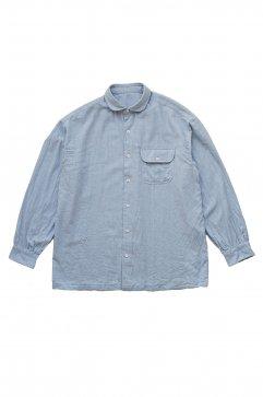 Porter Classic - CASHMERE COTTON SHIRT - FRENCH BLUE