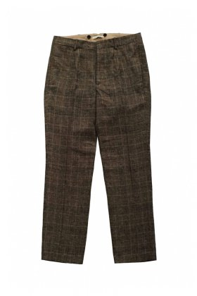 OLD JOE - ARTISAN SACK TROUSER - GLEN CHECK SIENNA