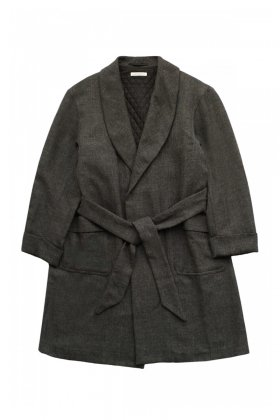 COAT - OLD JOE - BELTED SMOKING COAT - FRENCH TWILL - Price 96,120 tax-in