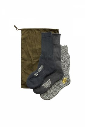 Nigel Cabourn - 3-PACK ARMY SOCKS - NAVY