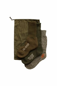 Nigel Cabourn - 3-PACK ARMY SOCKS - OLIVE