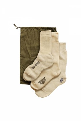 Nigel Cabourn - 3-PACK ARMY SOCKS - IVORY