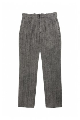 OLD JOE ★★★ - EXCLUSIVE ARTISAN SACK TROUSER - OATMEAL HERRINGBONE