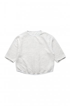 Porter Classic - SASHIKO SUPER LIGHT SWEAT SHIRT - WHITE