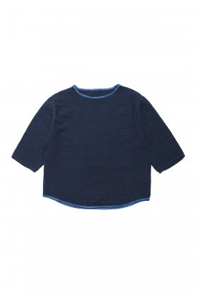 Porter Classic - SASHIKO SUPER LIGHT SWEAT SHIRT - NEW BLUE