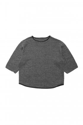 Porter Classic - SASHIKO SUPER LIGHT SWEAT SHIRT - GRAY