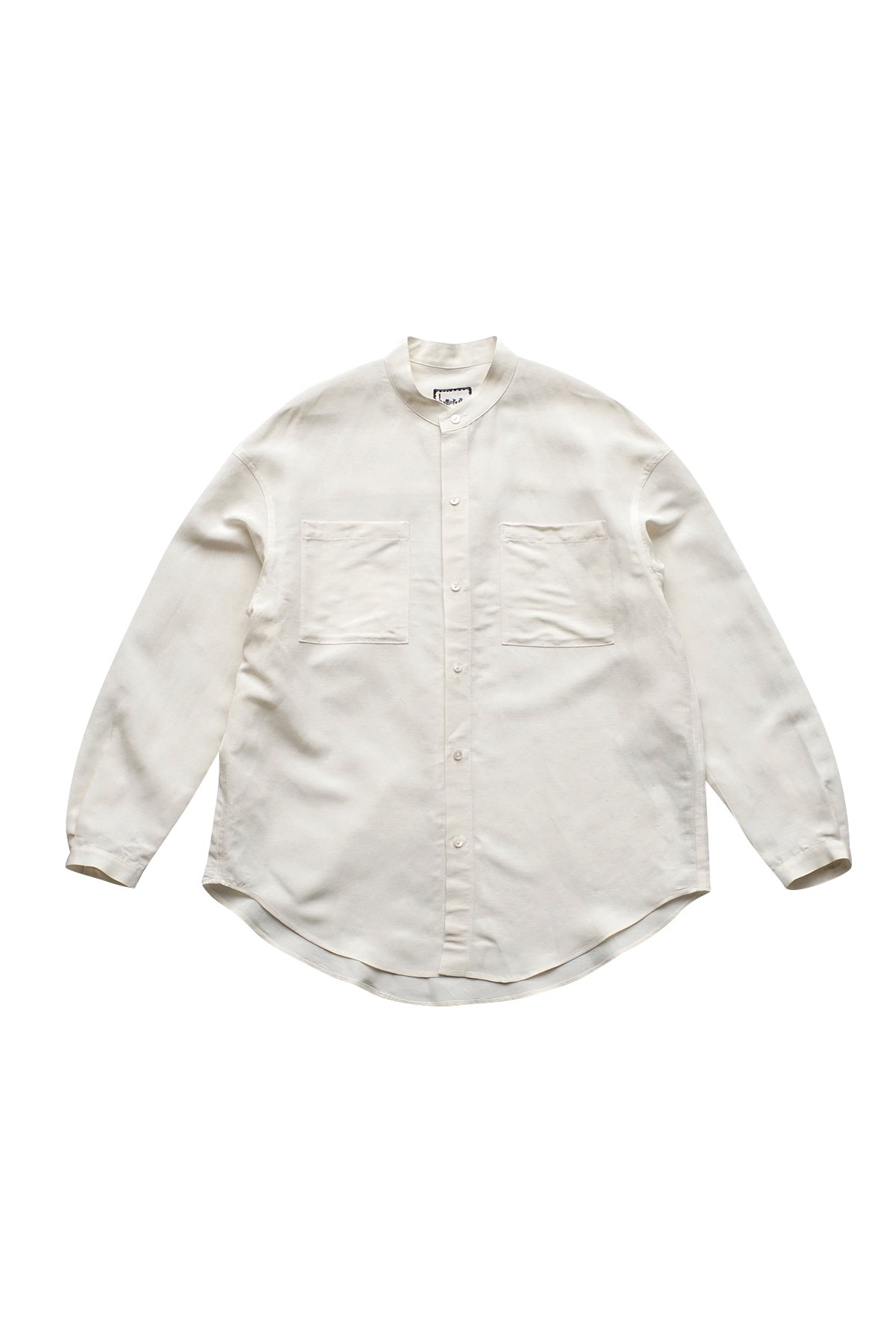 humoresque ★★★ - Exclusive MEN'S STAND COLLAR SHIRT LONG SLEEV NATURAL - PRICE 51,700 tax-in