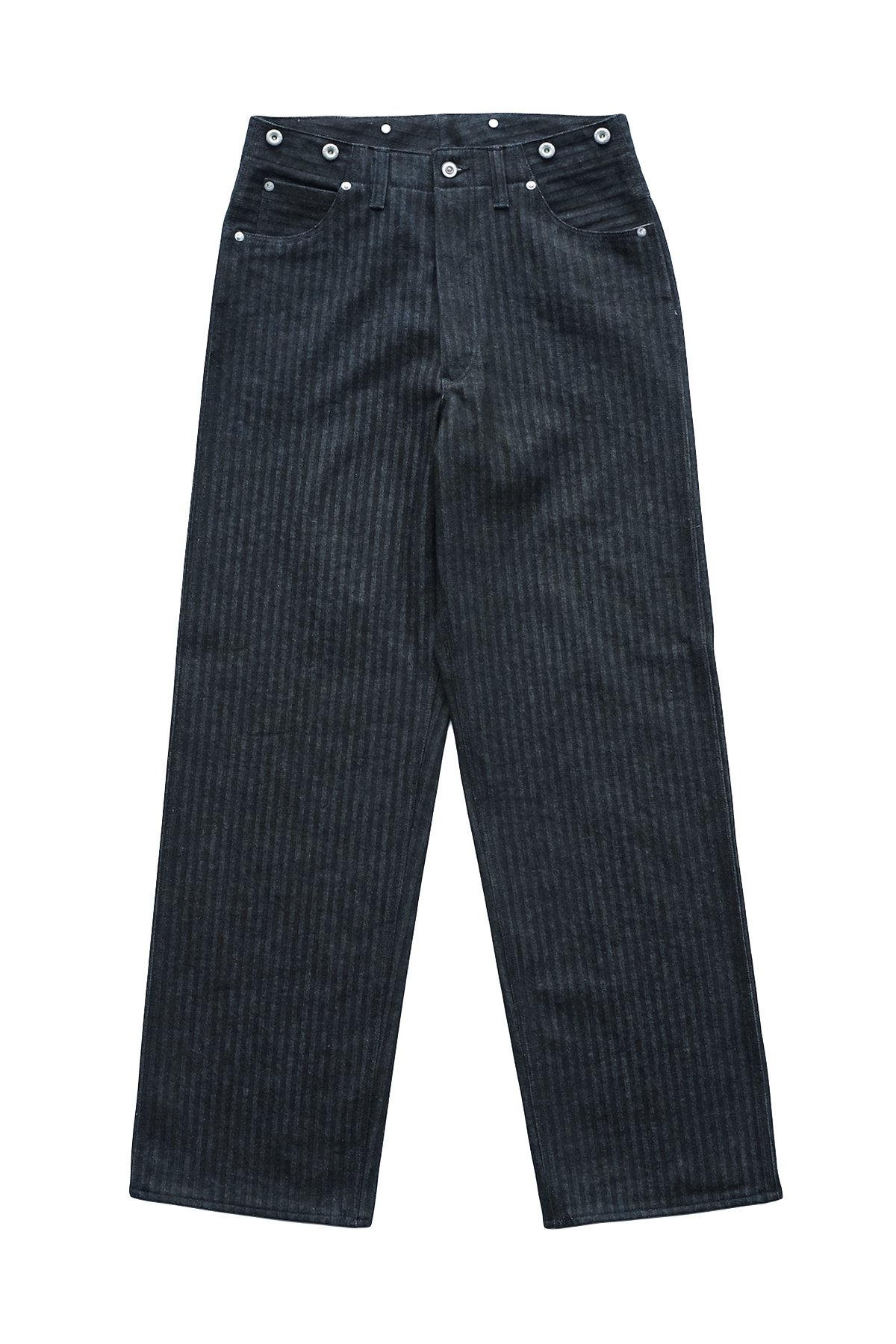 OLD JOE - TRIPPLE NEEDLE BELTLESS JEANS INDIGO HERRINGBONE - PRICE 28,600 tax-in