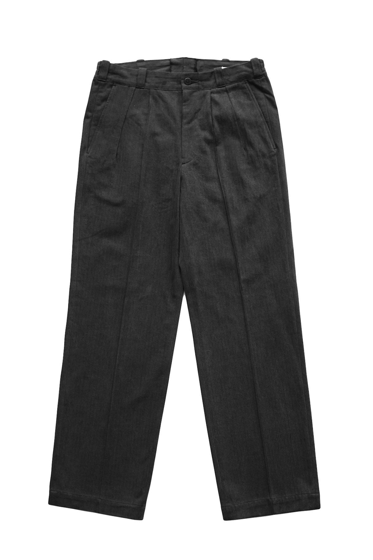 OLD JOE - FRONT TUCK ARMY TROUSER - GRAPHITE PRICE 31,900 tax-in