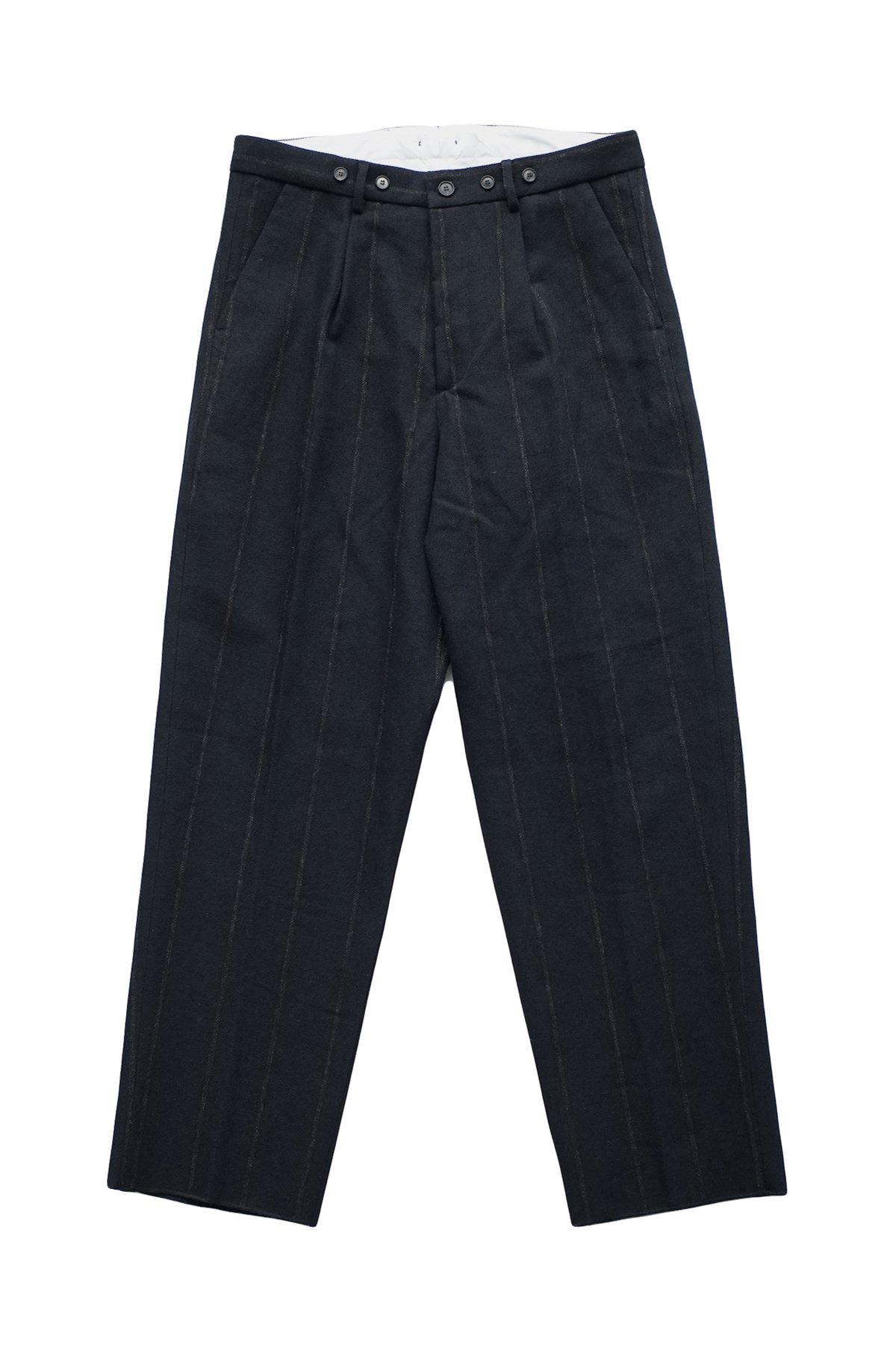 Bergfabel - FARMER PANTS - BLACK NAVY STRIPE - PRICE 96,800 tax-in