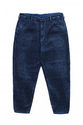 Porter Classic ★★★ - SASHIKO LIGHT CROPPED PANTS - BLUE