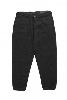 Porter Classic ★★★ - SASHIKO LIGHT CROPPED PANTS - BLACK