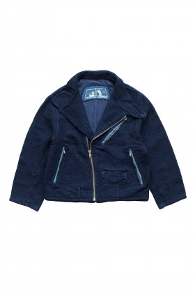 Porter Classic - SASHIKO GREASE JACKET - BLUE