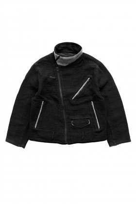 Porter Classic - SASHIKO GREASE JACKET - BLACK