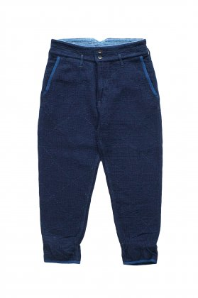 Porter Classic - SASHIKO GREASE PANTS - BLUE