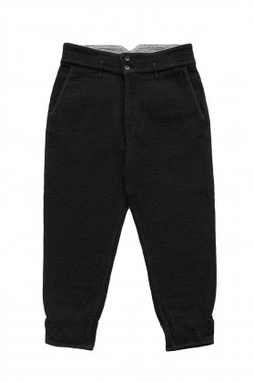 Porter Classic - SASHIKO GREASE PANTS - BLACK