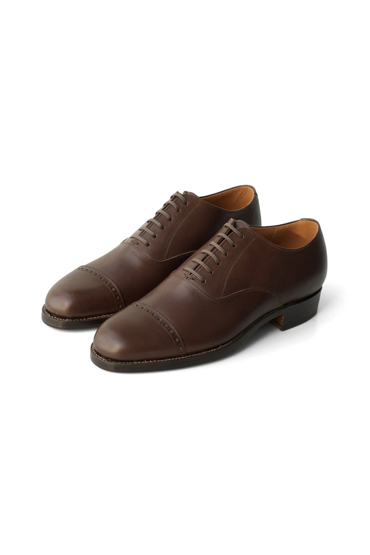 "OLD JOE - ""The Banker"" VACHETTA LEATHER CAP TOE SHOES BROWN PRICE 77,000 tax-in"