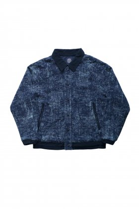 Porter Classic - PEELED CLOTH VARSITY JACKET - BLUE