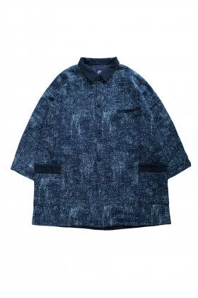Porter Classic - PEELED CLOTH COAT - BLUE