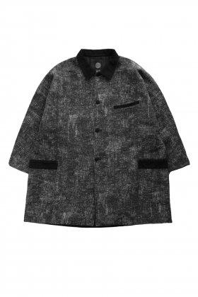 Porter Classic - PEELED CLOTH COAT - BLACK