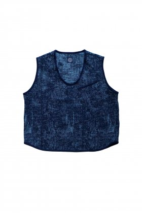 Porter Classic - PEELED CLOTH PULLOVER VEST - BLUE